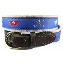 Crossed Flags and Clubs Belt