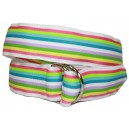 Ladies D-Ring Belt - Multi color Stripes II