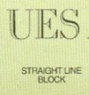 Straight Line Block Font